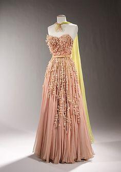 Evening Dress 1955, American, Made of silk