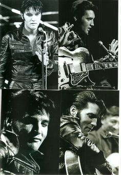 Elvis Presley 19 Photo Black & White Set from the 1968 NBC TV Special & FREE CD! | eBay