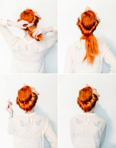 Beauty: Retro Rolled Updo With A Vintage Scarf
