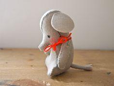 Felt Elephant mini soft sculpture artists doll Luca the baby elephant