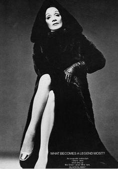 Marlene Dietrich, #1969 #vintage #furs #blackglama