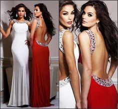 vestido largo rojo en lima con cuentas vestido largo