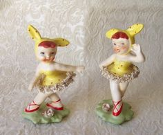 Lefton 1956 Pixie Girls