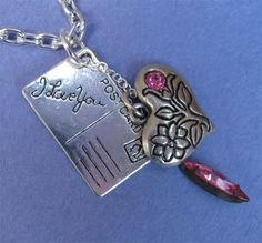 VALENTINE CHARM NECKLACE by MimiJewels on Etsy, $22.00