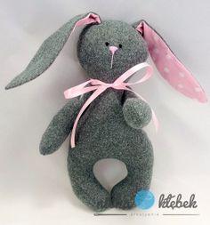 Zajączek przytulanka dla dziewczynki - różowy