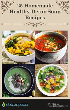 A Curated List of 25 Homemade Detox Soup Recipes Recetas Sopas cremas Healthy Homemade Snacks, Homemade Detox, Healthy Drinks, Healthy Recipes, Diet Drinks, Clean Eating, Healthy Eating, Healthy Food, Detox Recipes