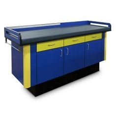 The Hausmann Pediatric Treatment Table is constructed of PVC-free laminate with a PVC-free, blue urethane pad that that is secured with Velcro fasteners. Cabinet Drawers, Pediatrics, Uk 5, Psych, Storage, Tables, France, Furniture, Mesas