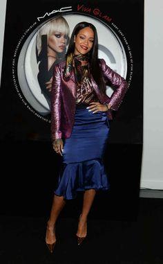 Rihanna At The MAC Cosmetics Launch Of Viva Glam Rihanna In New York City