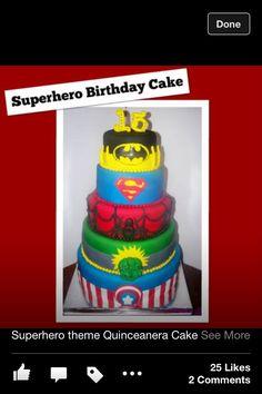 Chloe's super hero cake