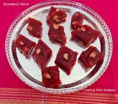 Strawberry Halwa, easy to make Indian sweet using fresh or frozen strawberries.