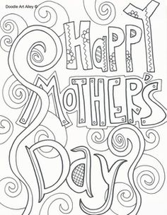 Mother's Day doodles
