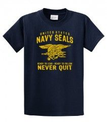United States Navy Seals T-shirt Never Quit - from NavyMomShirts.com