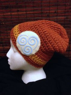 Avatar Last Airbender Slouch Beanie Air Tribe by StitchedbyXtaL