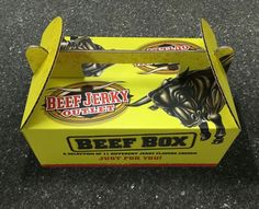 BJO Beef Box! Beef Jerky, Yummy Snacks, Tasty, Box, Snare Drum, Boxes