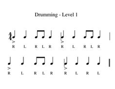 """Drumming >>> Good basic rhythms for echoing/reading. Replace """"stick"""" with a clap. Drum Lessons For Kids, Piano Lessons, Kids Drum Set, Bucket Drumming, Music Maniac, Middle School Music, Drum Music, Music Lesson Plans, Music Activities"""