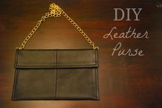 DIY Leather Purse | Little Miss Mama