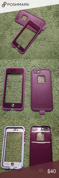 LifeProof iPhone 6 Case Plum colored LifeProof case. In good used condition. There are scuffs on the back side around edges mostly and a few scuffs to front covering. No aux outlet comes with it. I used for about 4 months until I got the 7. LifeProof Accessories Phone Cases