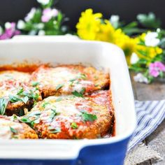 My grandmother's easy Baked Eggplant Parmesan is a delicious vegetarian dinner that only requires 15 minutes of prep for a quick weeknight meal!