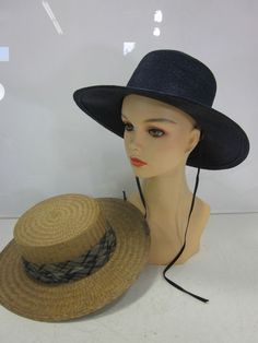 2 Vintage Women's Hats One Straw and One Paris Boutique | eBay