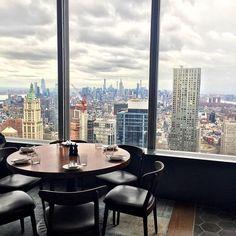 Lunsj høyt oppe i restauranten Manhatta på siste feriedag i NY ✨ Heaven, Nyc, New York, Places, Sweet, Instagram, Candy, Sky, New York City