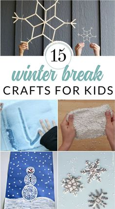 Keep the kids entertained with these creative craft ideas. They make perfect snow day or winter break boredom busters. Winter crafts and creative projects for kids of all ages. #winteractivitiesforkids #snowdayactivities #wintercrafts #thecrazycraftlady