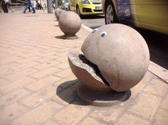 Someone In Bulgaria Is Putting Googly Eyes On Broken Street Objects, And It's Even Better Than Fixing Things