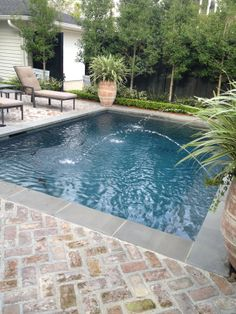 33 Charming Backyard Pool Landscaping Ideas You Will Love - You can give your swimming pool a new and different look simply by adding pool lights. A backyard pool is a lucky thing to have and if you have one, t. Amazing Swimming Pools, Small Swimming Pools, Small Pools, Swimming Pools Backyard, Swimming Pool Designs, Pool Landscaping, Lap Pools, Indoor Pools, Pools For Kids