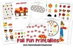 Fall Fun Learning Pack ---- printables for preschool and kindergarten