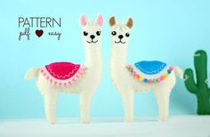 Create your own felt llama using my easy to follow, simple step by step instructions and felt pattern. Everything is hand sewn at a basic level. How will you use your llama? As a baby mobile, garland, hanging ornament, cake topper... what ever you choose! USA & UK Customers – all measurements are in both metric and imperial (cms and inches). All supplies referenced are available in most craft or fabric shops world over. You will receive: - Felt Lllama Pattern - including photos, step by step