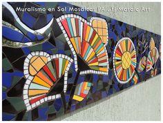 MOSAICO CREATIVO de fj Mosaic Art Mosaic Artwork, Mosaic Wall Art, Mosaic Tiles, Mosaic Designs, Mosaic Patterns, Mosaic Portrait, Wall And Floor Tiles, Street Art, Wood Art