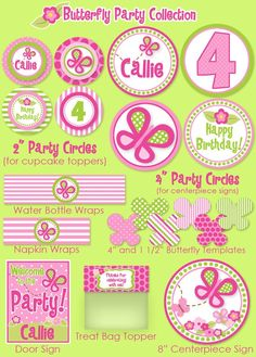 Butterfly Party Printables  Butterfly
