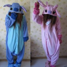 Adult Animal Kigurumi Pajamas Costume Cosplay Stitch