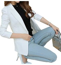 MIKTY Women Clothing MIKTY Casual Work Office Blazer One Button Jacket for Women and Juniors