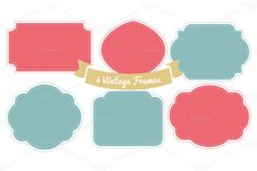 Vintage Style Frames, Vol 1 by More Than Cake on Creative Market