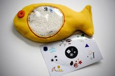 Make your own toys! Like this I-Spy fishy. Click through to find 22 ideas for keeping it handmade.