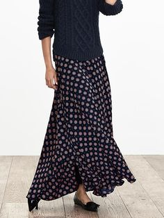 Foulard Maxi Skirt | Banana Republic