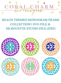 Beach Themed Monogram Frame