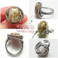 Jasper ring. Yeah I guess I could go ahead and wrap some 24 gauge around those..:/