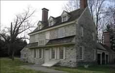 Harriton House, Bryn Mawr, Pennsylvania, Home of Charles Thomson Oh my goodness! My moms home town and my Nanny's house looked looked so much like this!