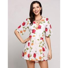 f8a5322876 Ladies Loose Floral Chiffon Playsuit Casual Jumpsuit