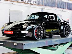 The Porsche 911 is a truly a race car you can drive on the street. It's distinctive Porsche styling is backed up by incredible race car performance. Porsche 993, Black Porsche, Porsche Cars, Custom Porsche, Porsche Carrera, Porsche Classic, Classic Cars, Lamborghini Gallardo, Ferrari F40