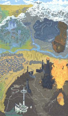 Andrew DeGraff – Cartography Art Show Bryant Sloan 1988 Art Hobbit, Hobbit Tolkien, Tolkien Books, Lotr, High Fantasy, Fantasy Map, Legolas, Gandalf, Thranduil