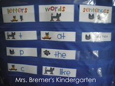 Color Words activities featuring Pete the Cat for Kindergarten and First Grade- perfect as literacy centers! Color Word Activities, Letter Activities, Literacy Activities, Literacy Stations, Literacy Centers, Pre Reading Activities, Teaching Reading, Teaching Ideas, Reading Strategies