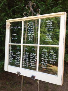 Vintage Wedding Seating Chart Windows- Shabby Chic Wall Decor on Etsy, $125.00