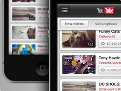 Dribbble - YouTube iPhone by Danny Keane