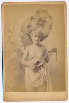 Vintage Ukulele Player
