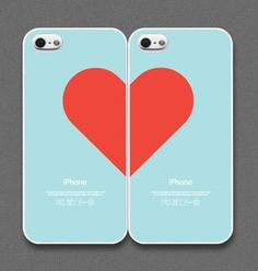 Best Friend Love iPhone Cases - Red/Mint