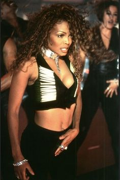 """Janet Jackson at her """"If"""" video shoot"""