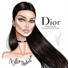Quick animated illustration of @bellahadid for @diormakeup @dior Hope you like it! Share your opinion and tag @bellahadid and @diormakeup ❤