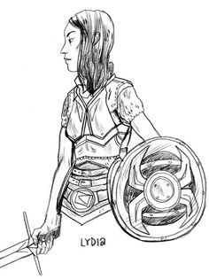 skueruem:  Lydia by Maike  So, there's a new drawing from me on the illustrated skyrim-blog.